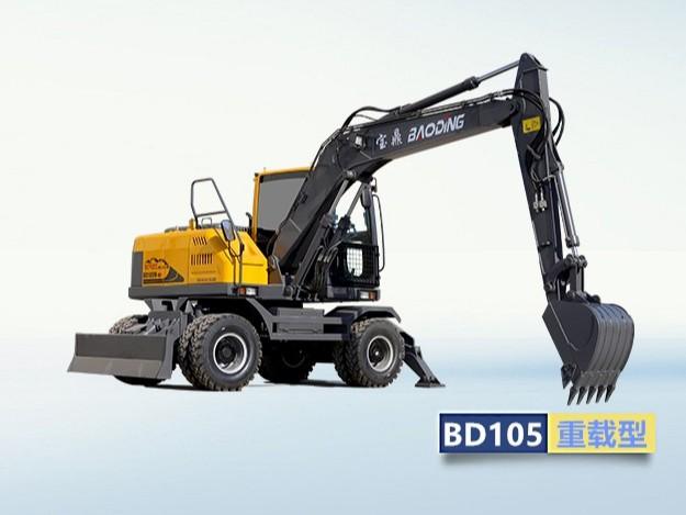 小型轮式挖掘机BD105型号