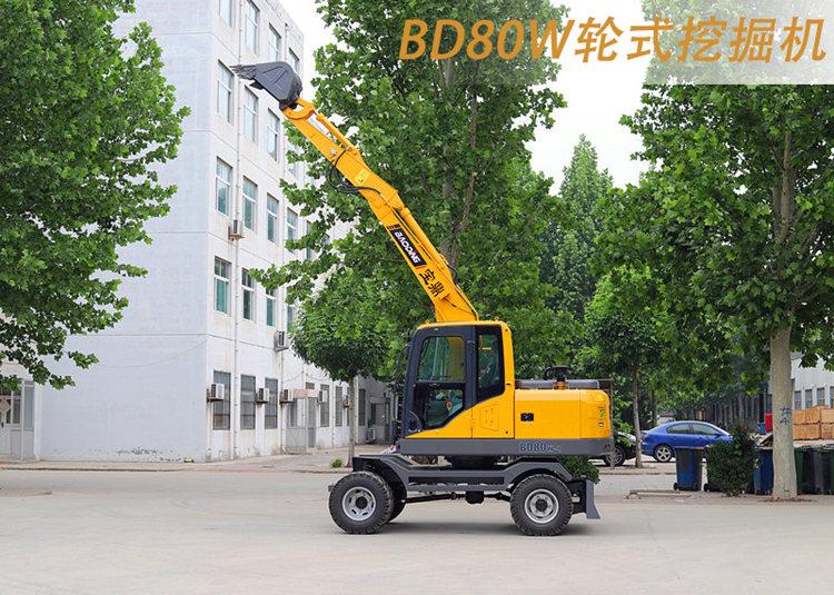 BD80W轮式挖掘机图片