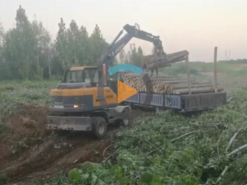 宝鼎多功能轮式挖掘机抓木机视频