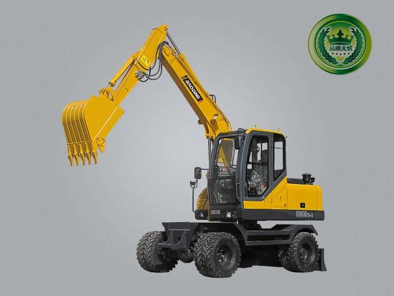宝鼎BD80W-8B型号轮胎式挖掘机