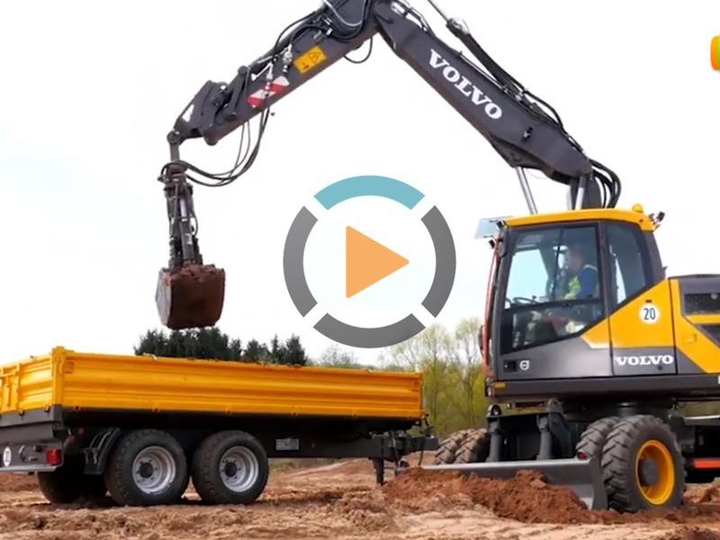 轮式挖掘机多种工况视频介绍-沃尔沃轮式挖掘机展示-宝鼎厂家