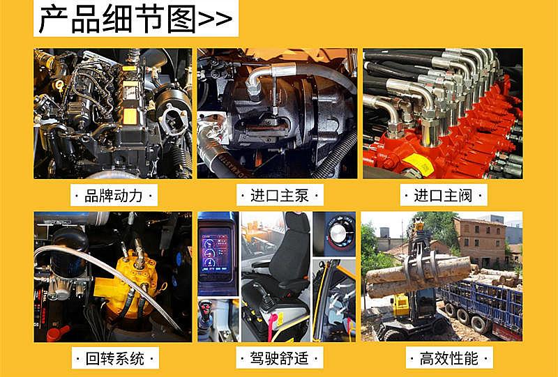 宝鼎BD95S轮式抓木机型号