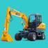 宝鼎BD80轮式挖掘机价格表