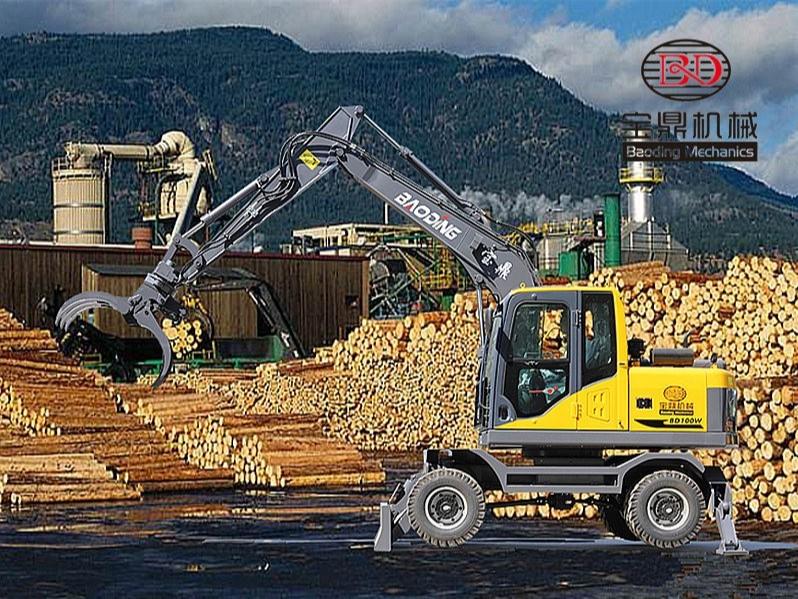挖掘机抓木机