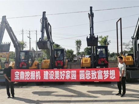 辽宁沈阳公路养护段订购宝鼎95轮式挖掘机
