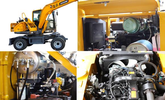 宝鼎BD80W轮式挖掘机维护保养便捷