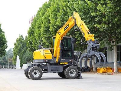 轮式挖掘机抓木机