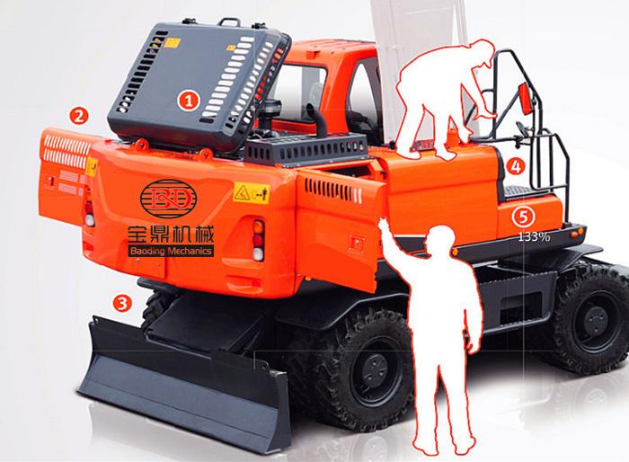 宝鼎150轮式挖掘机维修保养便捷
