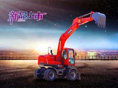 中型轮式挖掘机-宝鼎150轮式挖掘机产品介绍-150轮挖图片