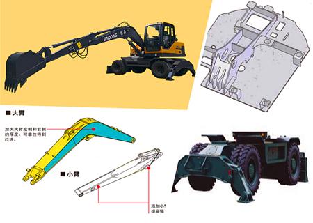 宝鼎BD95W系列轮式挖掘机结构坚固
