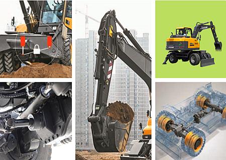 宝鼎BD95W系列轮式小挖掘机重负荷设计