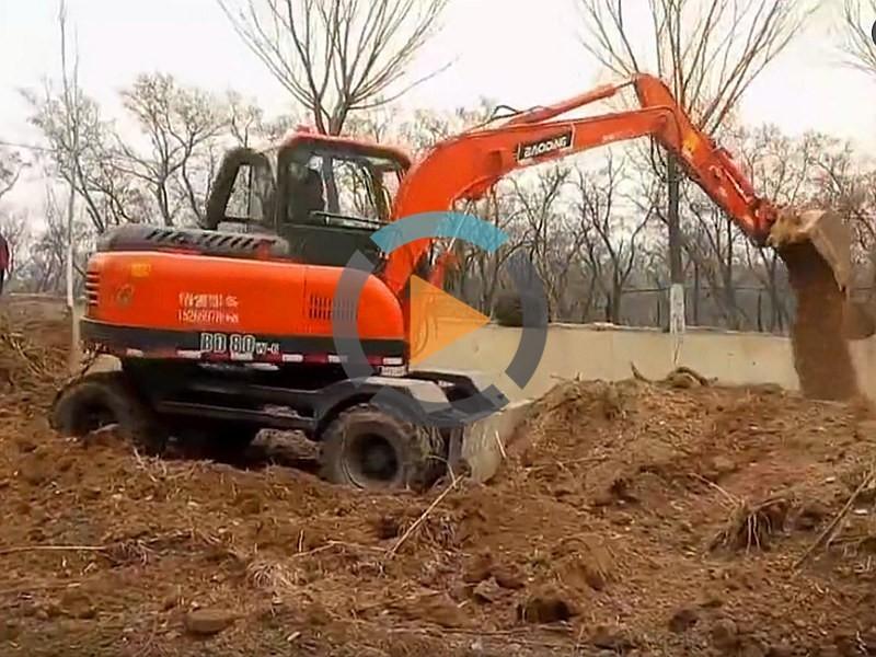 BD80W轮式小挖掘机视频