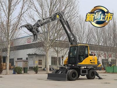 2020款宝鼎BD95W轮式挖掘机抓木机新款型号