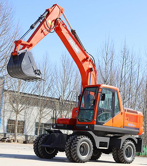 宝鼎150轮式挖掘机实车展示图
