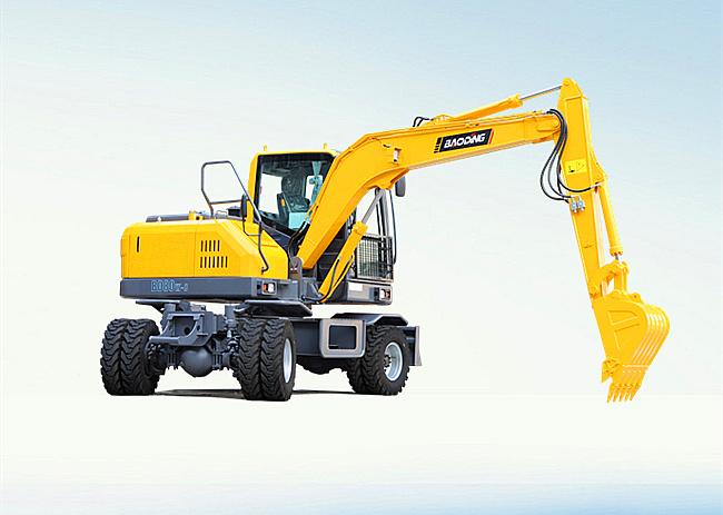 宝鼎BD80W轮式挖掘机图片