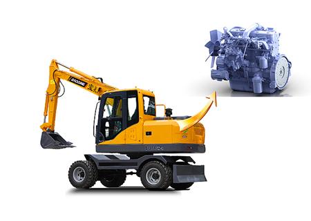 宝鼎BD80W轮式挖掘机动力部件展示