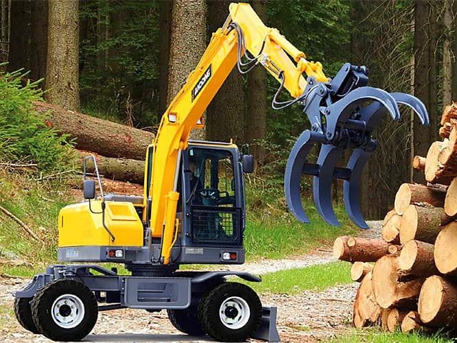 宝鼎BD80W新款轮式挖掘机抓木机上市