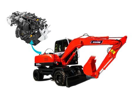 宝鼎BD80W小型轮式挖掘机动力强劲