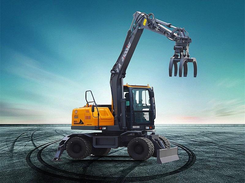 宝鼎BD95S轮式挖掘机抓木机