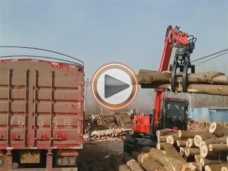 宝鼎轮式抓木机产品